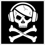 Music Pirate Skull and Headphones