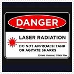 danger laser sharks
